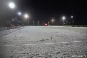 A view of Sportpark de Toekamst field after the game was called at half-time due to unsafe conditions on the field