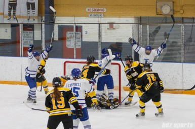 The Toronto Furies celebrate their first goal of the game