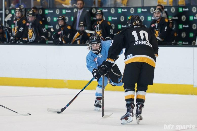 Buffalo Beauts defender Colleen Murphy (4) takes a shot on net
