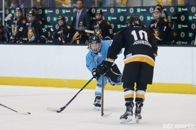 Buffalo Beauts defender Colleen Murphy (4) takes a shot on net