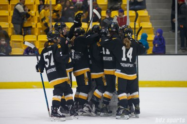 The Boston Pride celebrate their 3-2 win over the Connecticut Whale