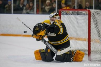 Boston Blades goalie Lauren Dahm (35)