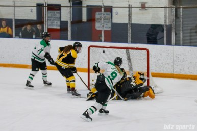 Markham Thunder forward Kristen Richards (9) finds the back of the net