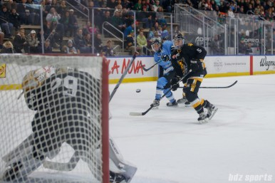 Buffalo Beauts forward Maddie Elia (16) takes a shot on goal