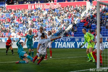 Team Germany forward Hasret Kayikci (23) slides to score the game's first goal