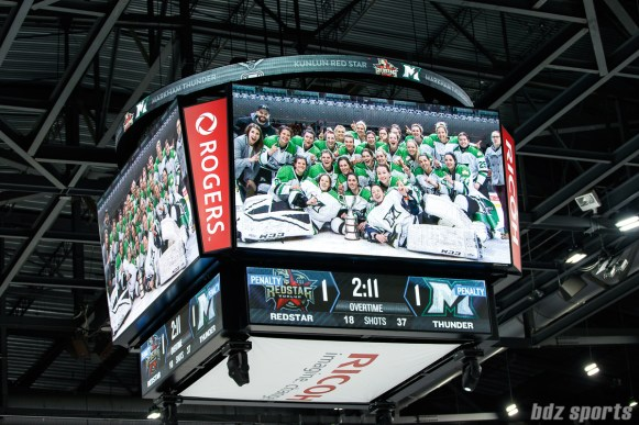 The Markham Thunder defeat the Kunlun Red Star 2-1 in OT to become the 2018 CWHL Clarkson Cup Champions
