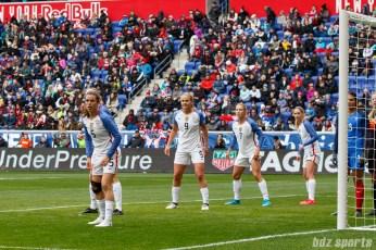 Team USA prepares to defend a corner kick