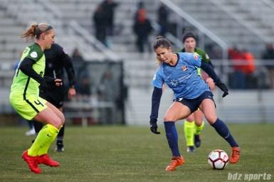 Sky Blue FC forward Katie Johnson (14)