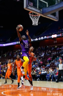 Los Angeles Sparks forward Shakayla Thomas (20)