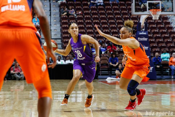 Los Angeles Sparks guard Brooke McCarty (18)
