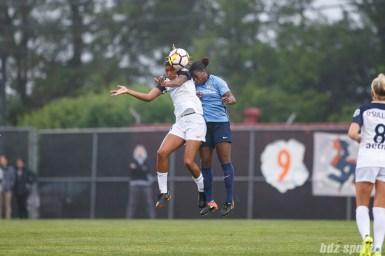 North Carolina Courage forward Jessica McDonald (14) and Sky Blue FC defender Mandy Freeman (22)