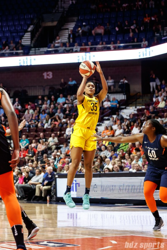 Indiana Fever guard Victoria Vivans (35)