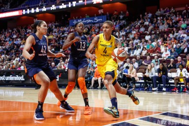 Indiana Fever forward Candice Dupree (4)