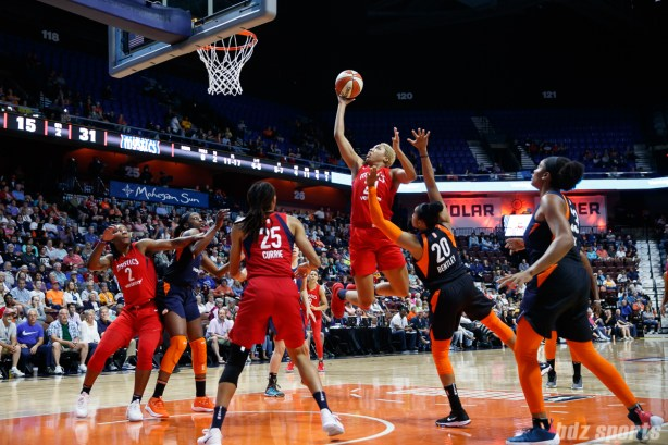 Washington Mystics forward Tianna Hawkins (21)