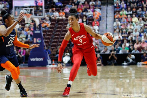 Washington Mystics guard Natasha Cloud (9)