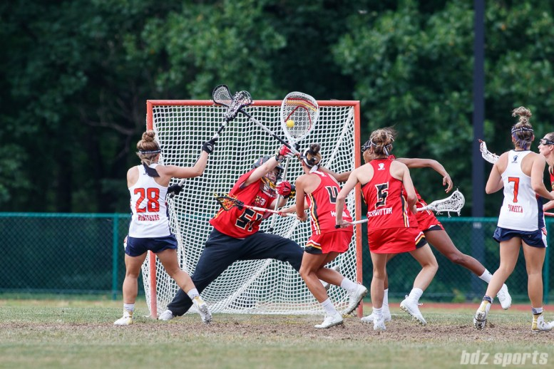Baltimore Brave goalie Ellie Degarmo (51)