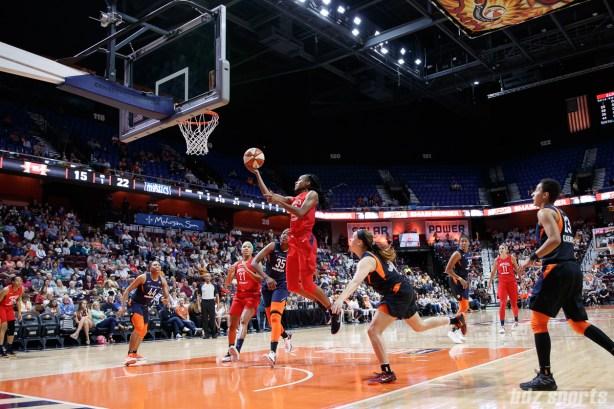Washington Mystics guard Shatori Walker-Kimbrough (32)