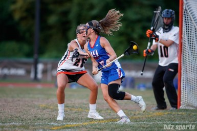 New York Fight attacker Kylie Ohlmiller (17) and Philadelphia Fire defender Maddy Lesher (26)