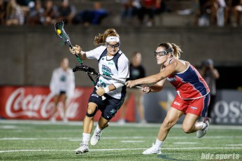 Philadelphia Force midfielder Carly O'Connell (10)