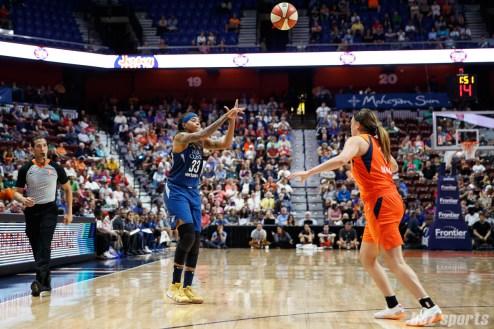 Minnesota Lynx forward Seimone Augustus (33)