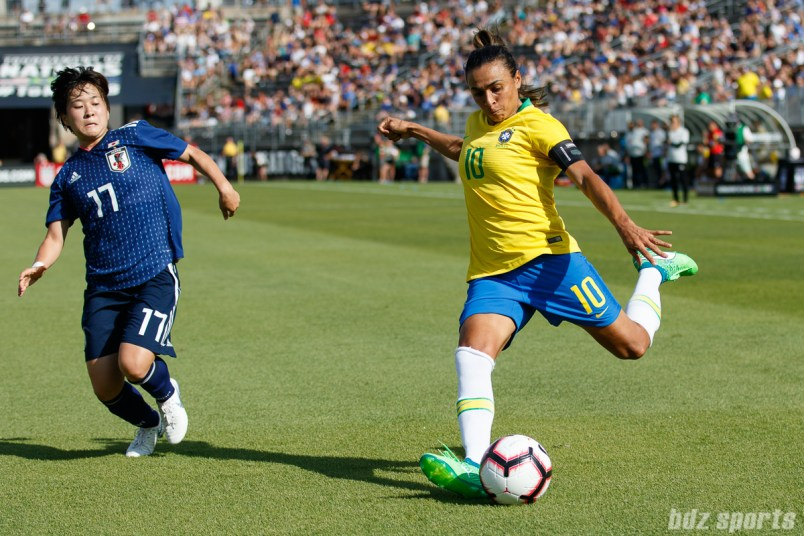 Team Brazil forward Marta (10)