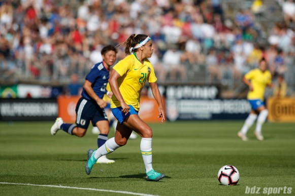 Team Brazil defender Monica (21)