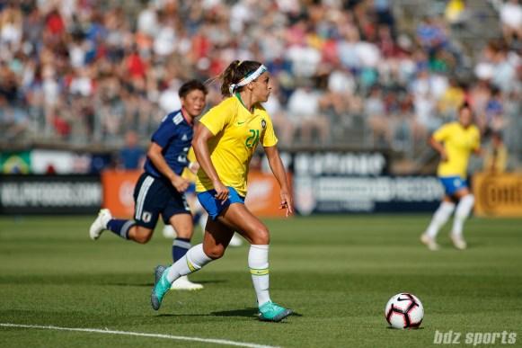 Team Brazil defender Monica (21)
