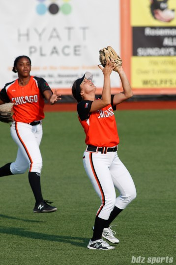 Chicago Bandits second baseman Delaney Spaulding (99)