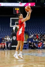 Team Canada guard Kia Nurse (5)