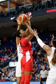 Team Canada center Kayla Alexander (23)