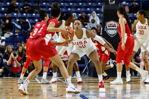 Team USA guard Odyssey Sims (50)