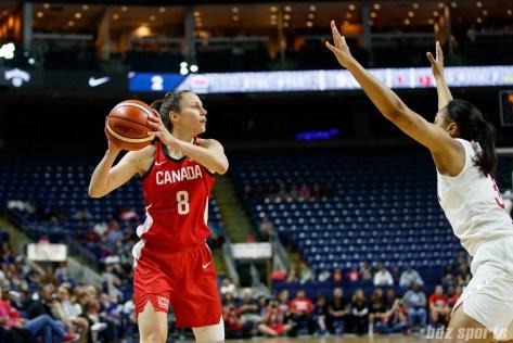Team Canada guard Kim Gaucher (8)