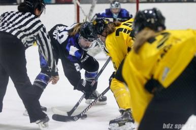 Minnesota Whitecaps forward Hannah Brandt (20) and Boston Pride forward Jillian Dempsey (14)