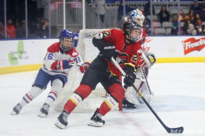 Calgary Inferno defender Kacey Bellamy (22)