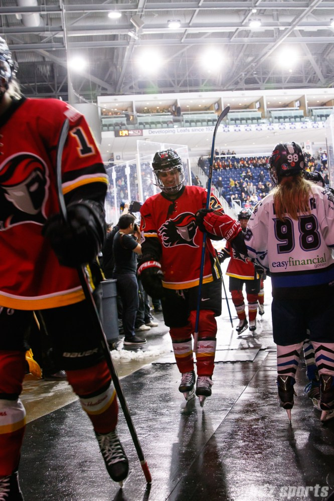Calgary Inferno defender Halli Krzyzaniak (21)