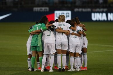 in the first of two 2021 WNT Send-Off Series games between the USWNT and Mexico at Rentschler Field in East Hartford, CT on July 1, 2021.