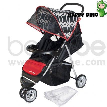 รถเข็นเด็ก Happy Dino : Stroller LC200H-J360+net