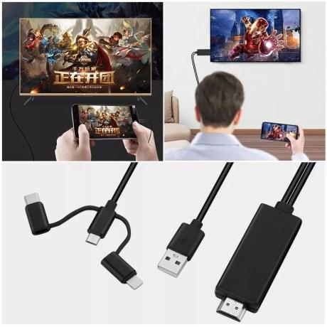 Câble HDMI 3 en 1 pour smartphone