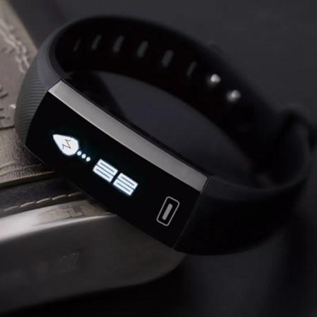 Montre Smart R5 PRO avec fréquence cardiaque, tension artérielle, taux d'oxygène