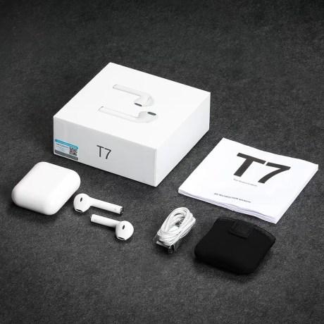 Écouteurs Bluetooth sans fil T7 avec micro