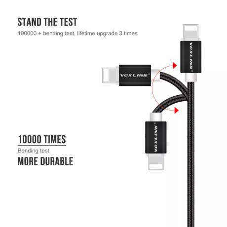 Câble USB Nylon 8pin pour iPhone