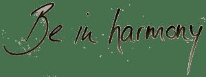 Logo Be in harmony Schriftzug
