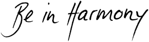 Logo Be In Harmony – Schriftzug