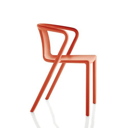 chaise design avec accoudoirs empilable plastique fauteuil air