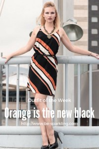 orange is the new black, outfit, dress, fashion blogger, miriam ernst, blond girl, fashion blog, fashion