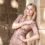 outfit, romantic, inspiration, dress, hm, rose, gold, blonde, girl, miriam ernst