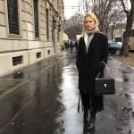 Miriam Ernst, Fashion week,Fashion Blogger, MFW 2016, siramilano, look, outfit , coat, black, fringes, bulgari bag