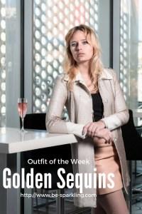 Miriam Ernst, fashion blogger, golden sequins, outfit