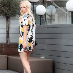 Miriam Ernst, Fashion Blogger, Blonde, Girl, Black Purese, Artistic, Dress, Bag Bug, Terrace, Gallery Hotel