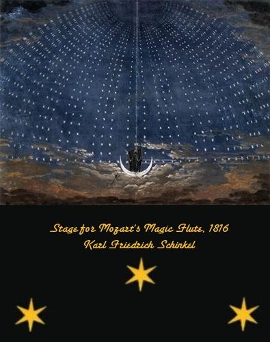 Stage set for Mozart's Magic Flute - Karl Friedrich Schinkel - 1816